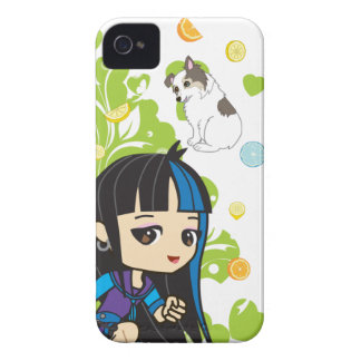 Kawaii Mika the Punk Girl Chibi 9700/9780 iPhone 4 Cases