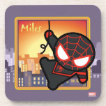 Kawaii Miles Morales City Sunset Beverage Coaster