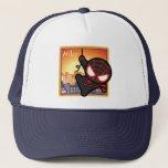 Kawaii Miles Morales City Sunset Trucker Hat