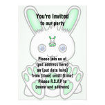 Kawaii Mint Green Bunny Announcement