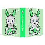 Kawaii Mint Green Bunny Binders
