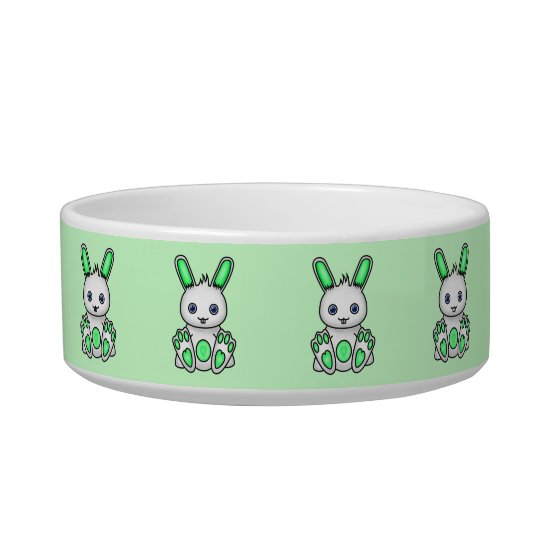 Kawaii Mint Green Bunny Bowl