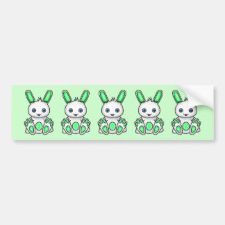 Kawaii Mint Green Bunny Bumper Sticker