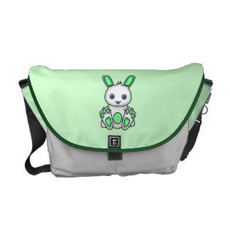 Kawaii Mint Green Bunny Courier Bag