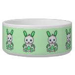 Kawaii Mint Green Bunny Dog Food Bowl