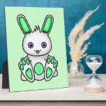 Kawaii Mint Green Bunny Photo Plaques