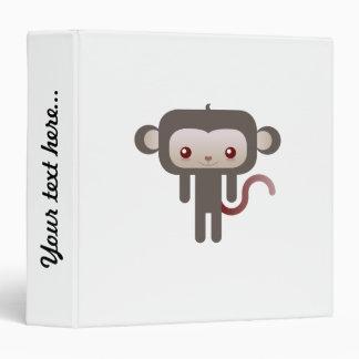 Kawaii monkey 3 ring binder