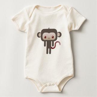 Kawaii monkey baby bodysuit