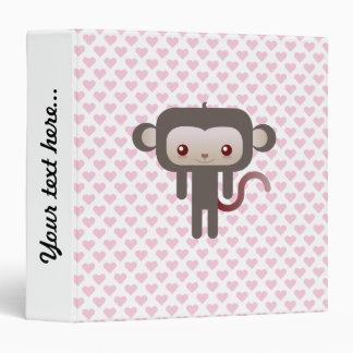 Kawaii monkey vinyl binders