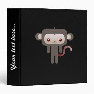 Kawaii monkey vinyl binder