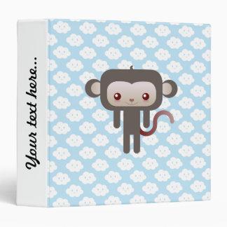 Kawaii monkey 3 ring binders