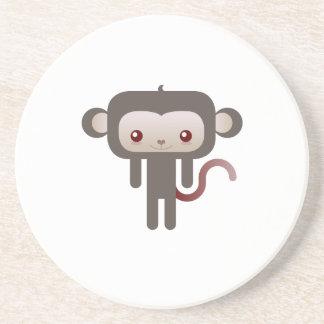 Kawaii monkey drink coasters