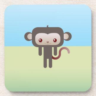 Kawaii monkey beverage coaster