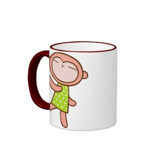kawaii monkey mug