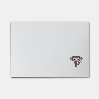 Kawaii monkey post-it notes