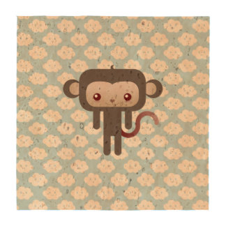 Kawaii monkey drink coaster