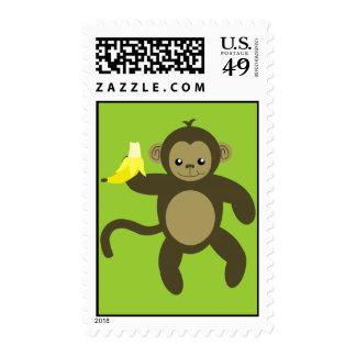 kawaii monkey stamp