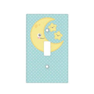 Kawaii Moon and Stars Light Switch Cover