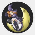 Kawaii Moon Witch Sticker Sheet