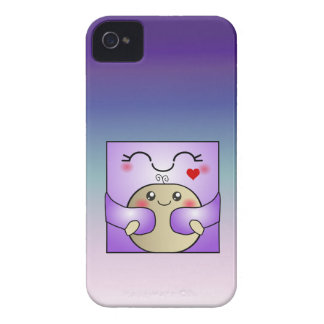 Kawaii Mother and Child Cute Hug iPhone 4 Cover
