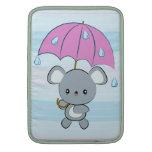 Kawaii Mouse and Umbrella Rainy Days Macbook Air MacBook Sleeve
