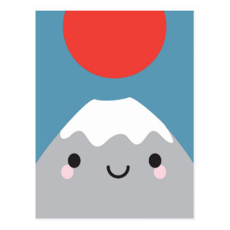 Kawaii Mt Fuji San Postcard