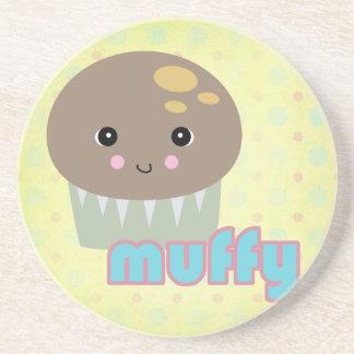 kawaii muffy muffin beverage coasters