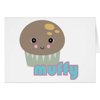 kawaii muffy muffin greeting card