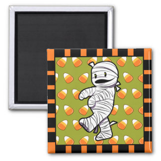Kawaii Mummy 2 Inch Square Magnet