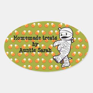 Kawaii Mummy Oval Sticker