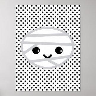Kawaii Mummy Poster Print