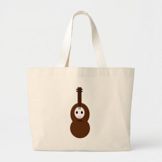Kawaii music  Stringed instrument Large Tote Bag