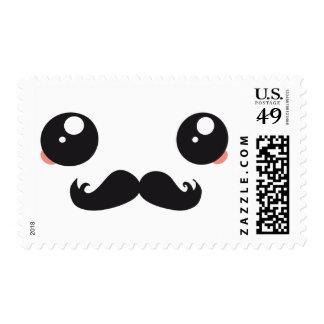 Kawaii Mustache postage