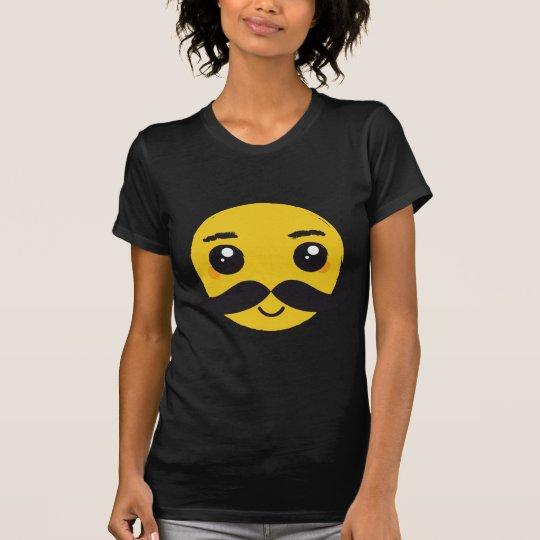Kawaii Mustache Smiling T-Shirt