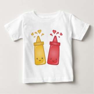 Kawaii Mustard and Ketchup Love Baby T-Shirt