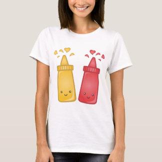 Kawaii Mustard and Ketchup Love T-Shirt