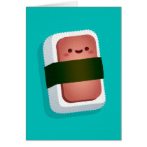 Kawaii Musubi Greeting Card (Blank Inside)