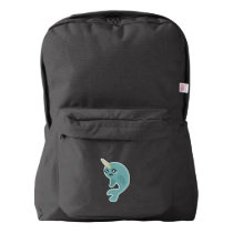 Kawaii narwhal american apparel™ backpack