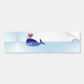 kawaii narwhal bumper sticker