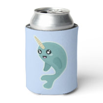 Kawaii Narwhal Can Cooler