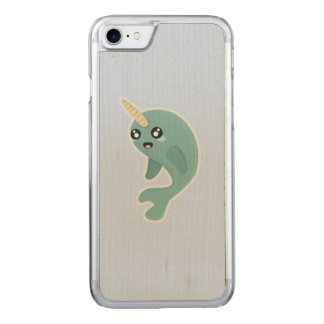 Kawaii Narwhal Carved iPhone 7 Case