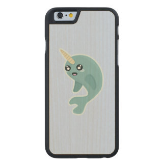 Kawaii Narwhal Carved Maple iPhone 6 Slim Case