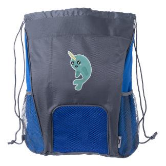 Kawaii narwhal drawstring backpack