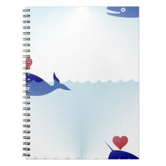 kawaii narwhal notebook
