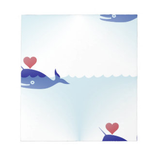 kawaii narwhal notepad