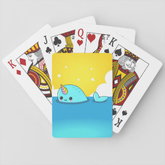 Kawaii Narwhal Playing Cards