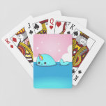 """Kawaii Narwhal Playing Cards<br><div class=""""desc"""">A happy kawaii narwhal on some playing cards.</div>"""