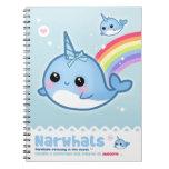 Kawaii narwhals spiral notebooks
