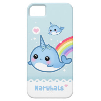 Kawaii narwhals with rainbow iPhone 5 cover