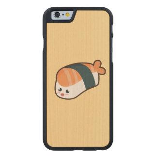 Kawaii nigiri Salmon Carved Maple iPhone 6 Slim Case